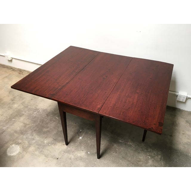 American Antique Gate Leg Table Drop-Leaf Console For Sale - Image 10 of 11