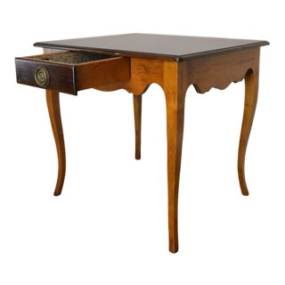Baker Milling Road French Country Style Pair One Drawer Side Tables For Sale