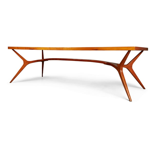 Contemporary 1950s Vintage Giuseppe Scapinelli Brazilian Sculptural Dining Table For Sale - Image 3 of 11