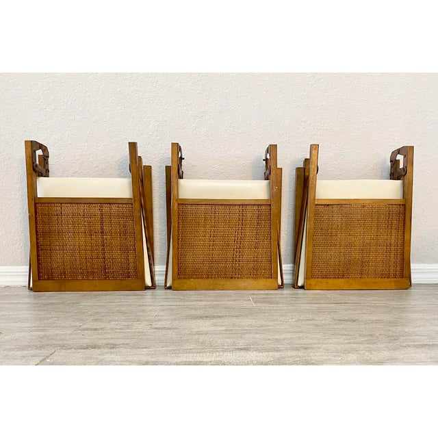 1960s Mid Century Modern Leg-O-Matic Folding Chairs - Set of 3 For Sale - Image 5 of 6
