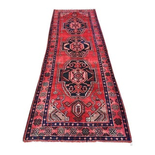Vintage Mid-Century Persian Rug Runner - 4″ × 10″ For Sale