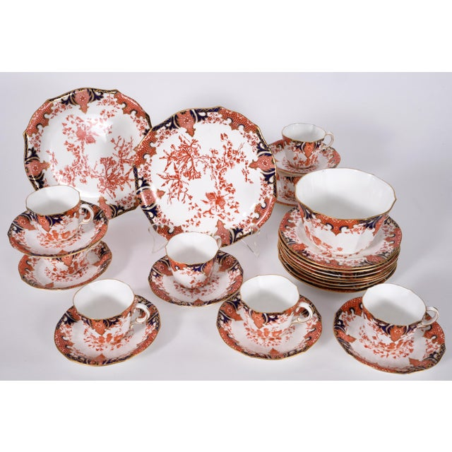Mid 19th Century Antique English Royal Crown Derby Porcelain Luncheon Set - 27 Pc. Set For Sale - Image 5 of 13