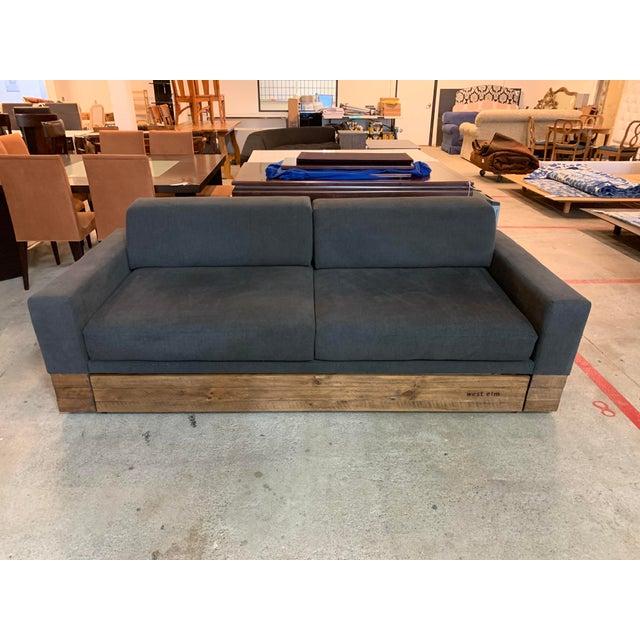 West Elm Emery Sleeper Sofa + Trundle Bed Frame   Chairish
