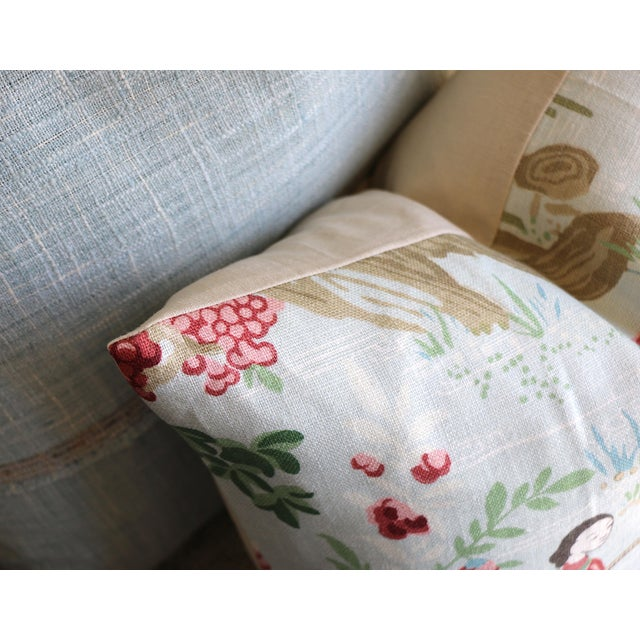 Japanese Schumacher Yangtze River Pillow Cover in Aqua For Sale - Image 3 of 5