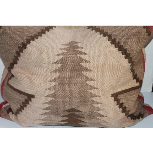 Navajo Monumental Early Navajo Weaving Pillow For Sale - Image 3 of 5
