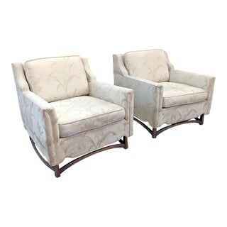 Mid Century Modern Sculptural Walnut Club Chairs - a Pair For Sale