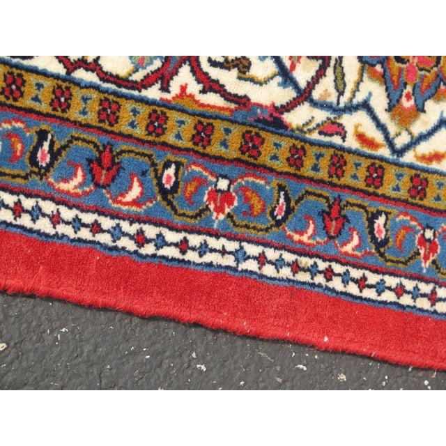 Textile 1980s Vintage Sarouk Pattern Rug- 8′ × 11′6″ For Sale - Image 7 of 11