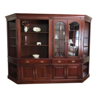 1990s Vintage Pennsylvania House Cherry Wood Display Cabinet For Sale