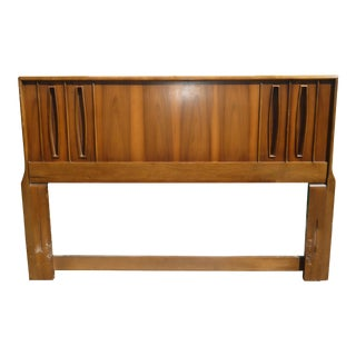 Vintage Mid Century Modern Sculptured Headboard For Sale