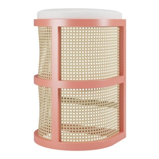 Isabella Bar Stool - Coral Gables, Optic White Linen For Sale