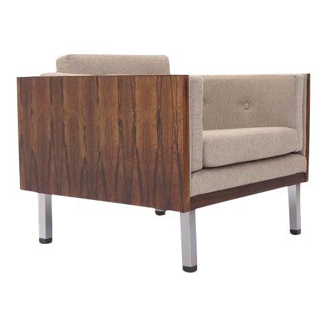 Rosewood Case Lounge Chair by Jydsk Møbelværk For Sale