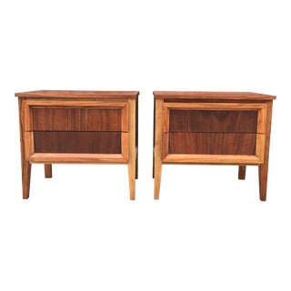Two Toned Mid Century Nightstands - a Pair