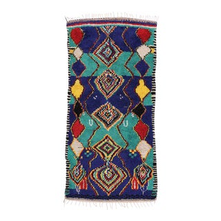 Mid-Century Modern Berber Moroccan Rug with Abstract Tribal Design