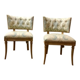 Hickory Chair Transitional Gabrielle Side Chairs Pair For Sale