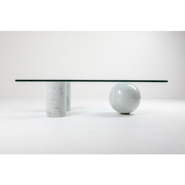 Massimo Vignelli Italian White Marble Coffee Table by Massimo Vignelli For Sale - Image 4 of 8
