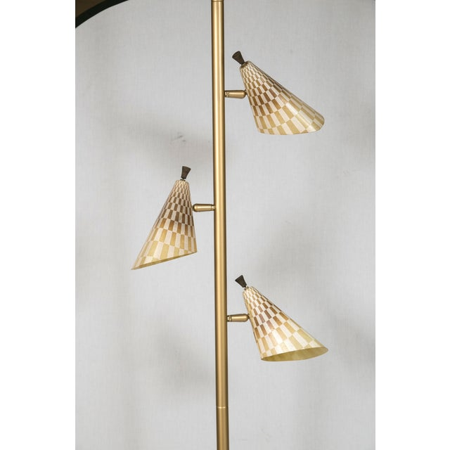 Retro Pole Multihead Floor Lamp - Image 4 of 11