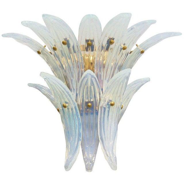 Fabio Ltd Fabio Ltd. Opaline Palmette Sconces (2 Pairs Available) For Sale - Image 4 of 9