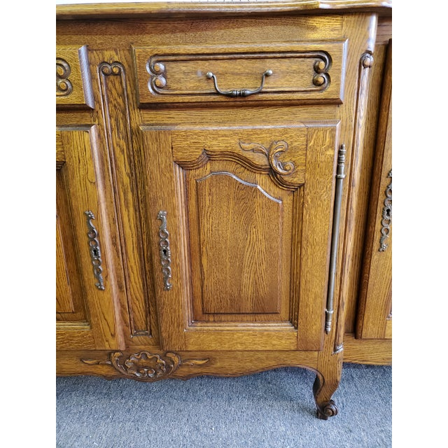20th Century French Parquet Top Buffet/Sideboard For Sale - Image 10 of 12