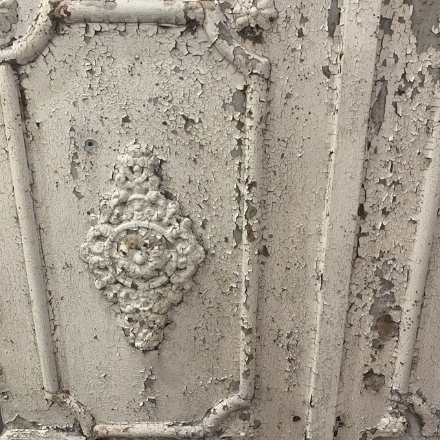 1880's French decorative garden gate. Decorative. Very distressed.