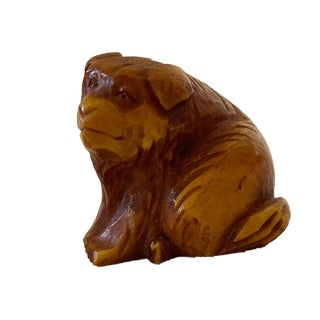 Genuine Japanese Netsuke of a Dog , Made in the Late Edo Period. For Sale