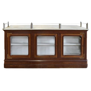Italian Wood and Marble Shop Counter
