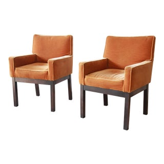 Paul Evans for Directional Parsons Armchairs, Pair For Sale