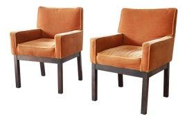 Image of Velvet Club Chairs