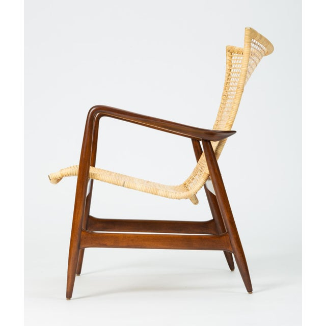 Danish Modern Lounge Chair With Cane Seat by Ib Kofod-Larsen for Selig For Sale - Image 3 of 13