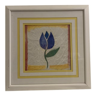 "1980s ""Tulip"" Series Original Print by Alfred Alexander Gockel, Framed For Sale"