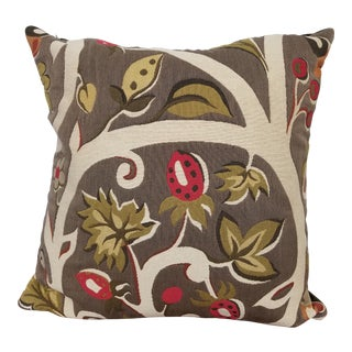 Clarence House Tapestry Pillow With Vermicelli Velvet rBack and Down Insert For Sale