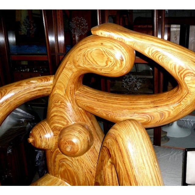 Hy Farber Monumental Carved Wood Nude Sculpture by Hy Farber For Sale - Image 4 of 8
