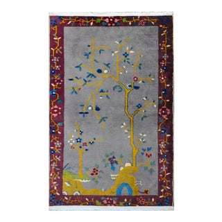 1920s Vintage Chinese Art Deco Rug For Sale
