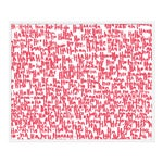 """Large """"haha Pink Two"""" Print by Kate Roebuck, 41"""" X 31"""""""