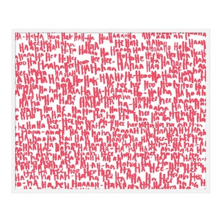 "Large ""haha Pink Two"" Print by Kate Roebuck, 41"" X 31"""