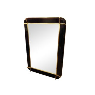 Fontana Arte Style Wall Mirror in Resin and Bronze For Sale