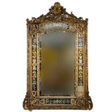 Image of A 19th Century French Gilded Wood & Gesso Mirror For Sale