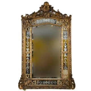 A 19th Century French Gilded Wood & Gesso Mirror