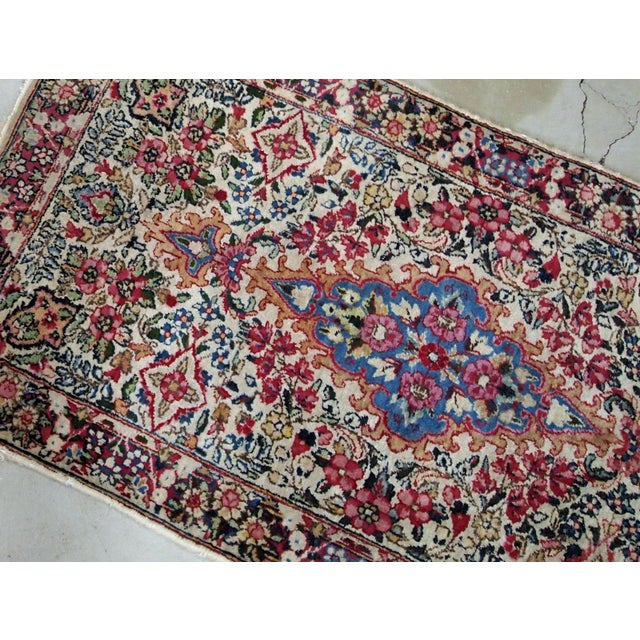 1910s 1910s, Handmade Antique Persian Kerman Rug 2.2' X 4.1' 1910s For Sale - Image 5 of 7