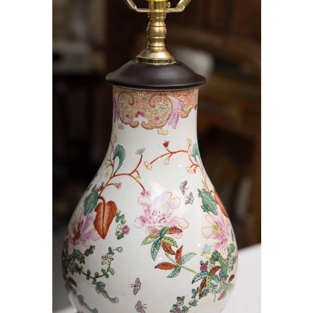 Gourd Gourd Shaped Table Lamps with Floral Designs For Sale - Image 7 of 9