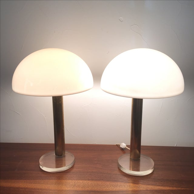1980s Gage Cauchois Lucite Lamps - A Pair For Sale In San Antonio - Image 6 of 7