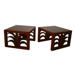 Circa 1950 United States Custom T. H. Robsjohn Gibbings End Tables - Pair For Sale