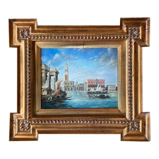 Venice Grand Canal Original Signed Painting For Sale