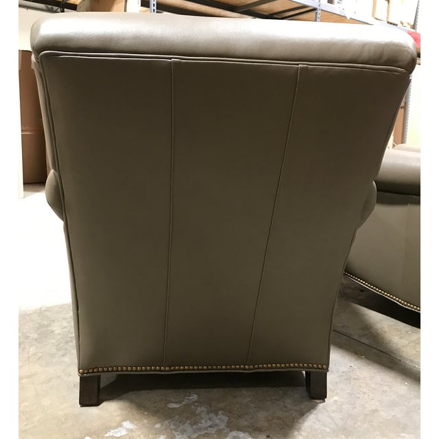 Brand New Hancock & Moore Leather Studio Chairs & Ottoman - Set of 3 For Sale - Image 5 of 7