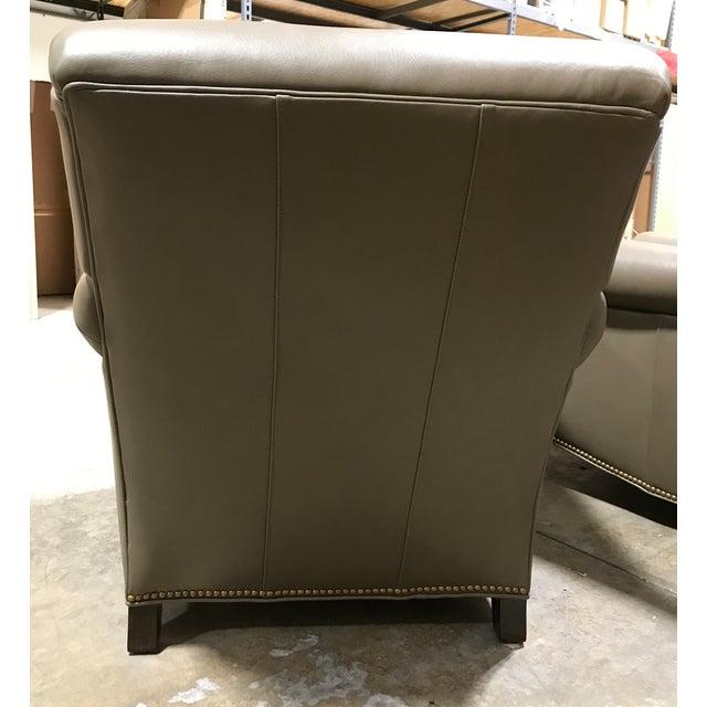 Hancock & Moore Leather Studio Chairs & Ottoman - Set of 3 - Image 5 of 7