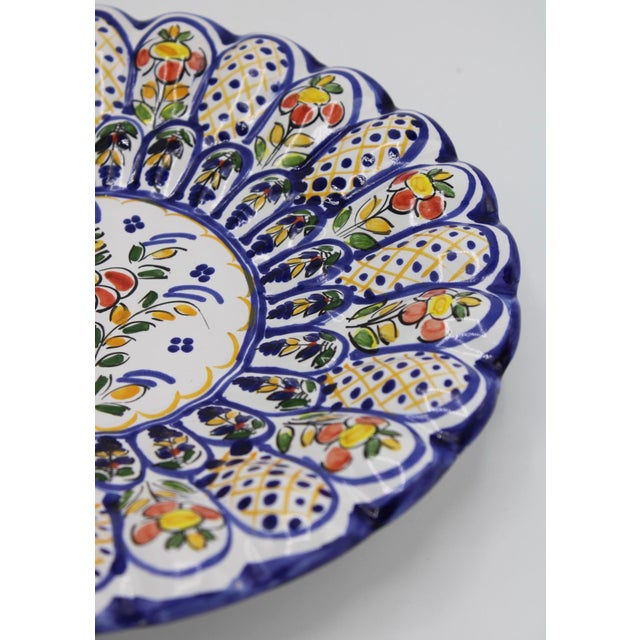 Blue French Country Ceramic Large Plate For Sale - Image 8 of 12