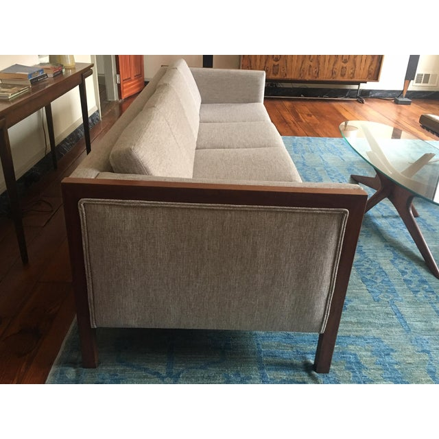 Mid-Century Modern Four Seat Long Sofa by Dux For Sale - Image 11 of 13