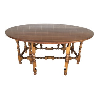 """Stickley Cherry Valley Double Gate Leg 72"""" Drop Leaf Dining Table For Sale"""