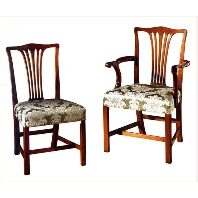 Arthur Brett Mahogany Sunbury Park Dining Chairs - Set of 10 - Image 4 of 10