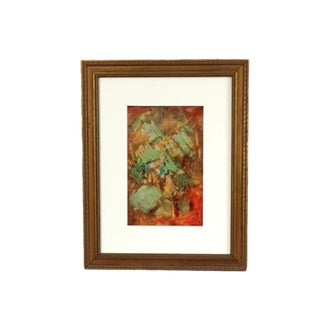 """Late 20th Century """"Fantasy"""" Framed Painting For Sale"""