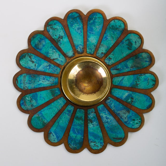 Mid 20th Century Mexican Modernist Cloisonné Door Knob Plates by Pepe Mendoza For Sale - Image 5 of 8